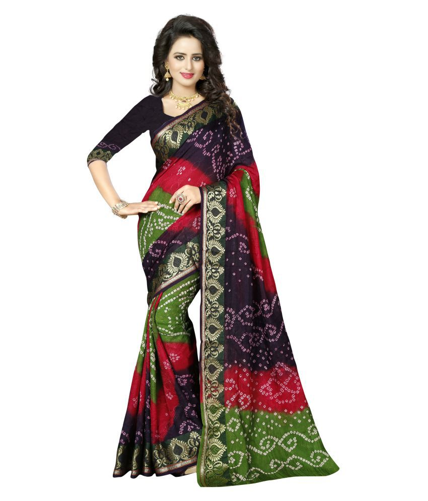 Dealsure Multicoloured Jacquard Saree