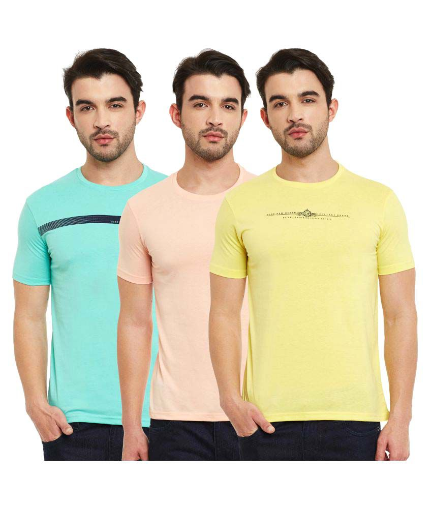 Duke Multi Round T-Shirt Pack of 3
