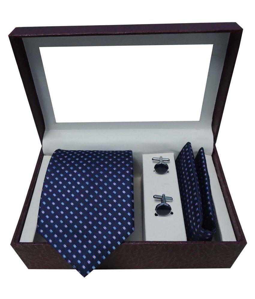 Riyasat Blue Abstract Micro Fiber Necktie