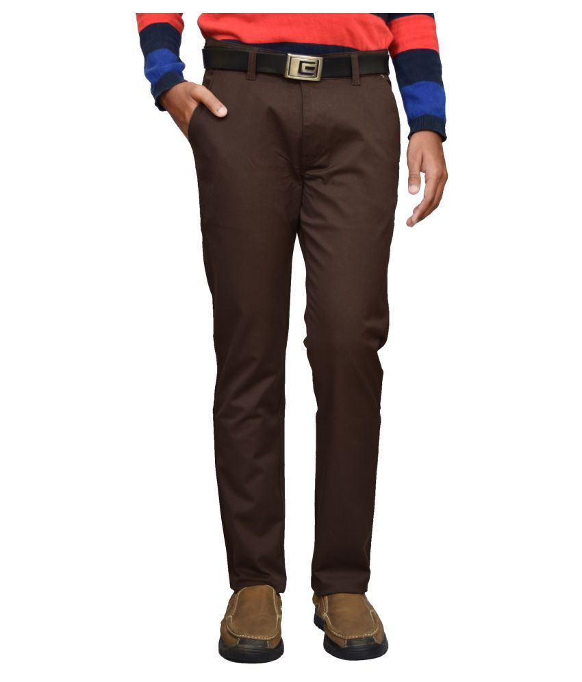 American Noti Coffee Slim -Fit Flat Chinos