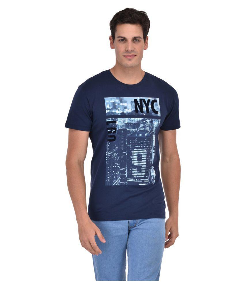 Octave Blue Round T-Shirt