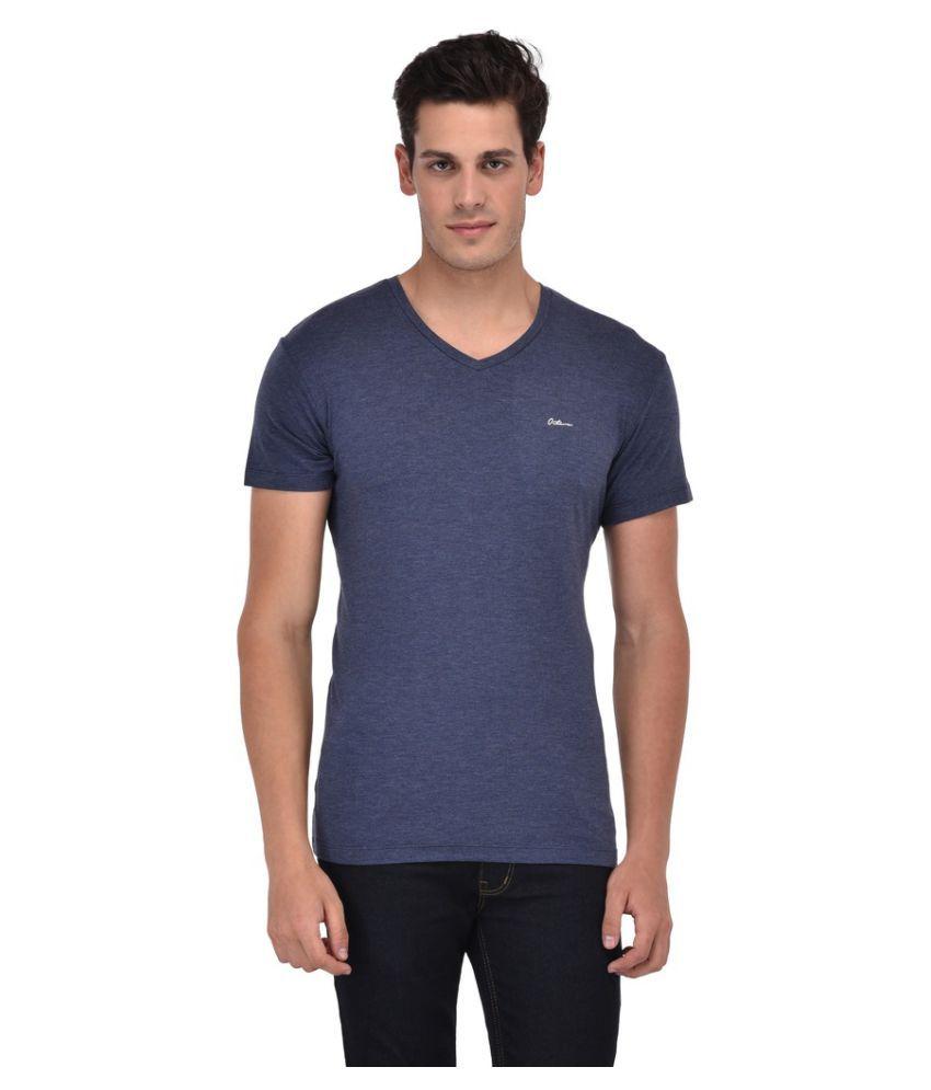 Octave Blue V-Neck T-Shirt