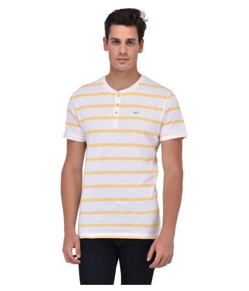 Octave White Henley T-Shirt