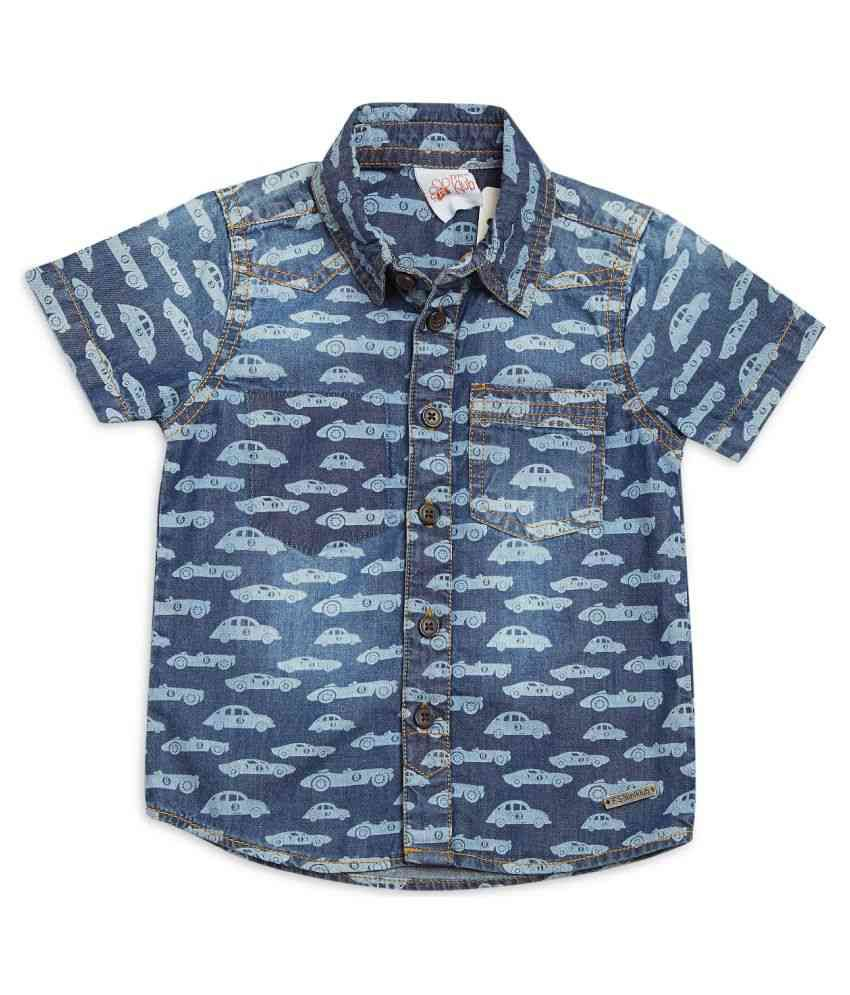 FS MiniKlub Baby Boy's Denim Shirt-Dark Wash