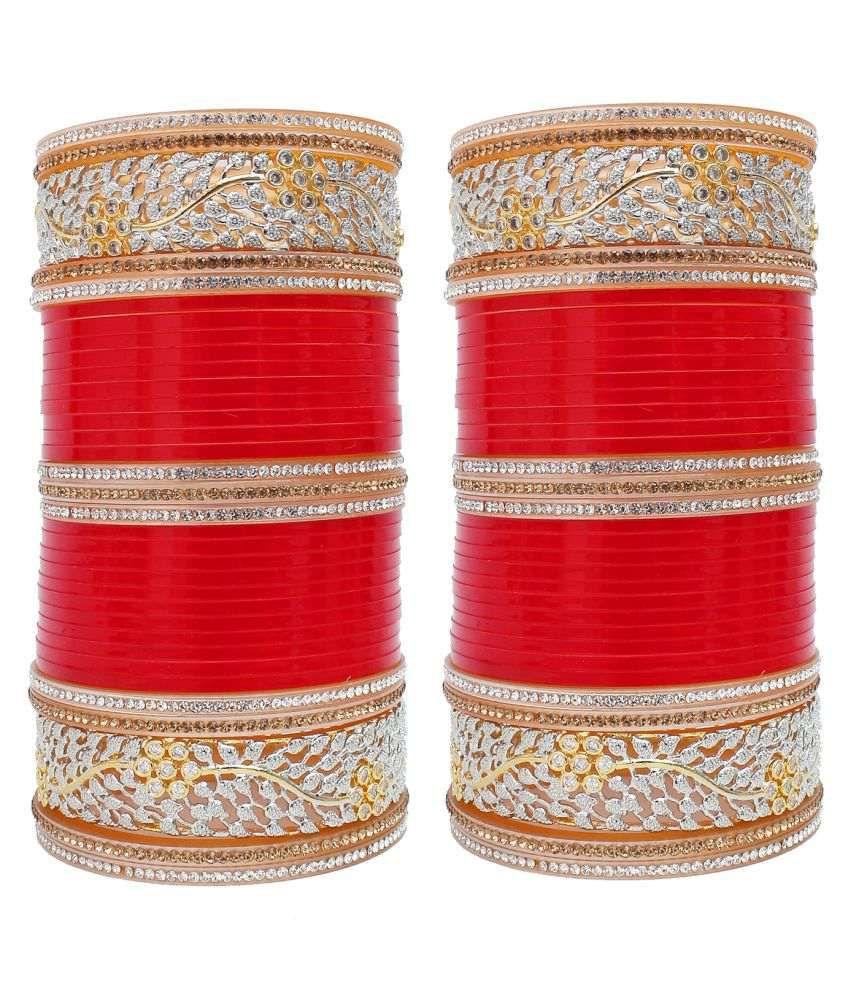 free Shipping Wedding Chudas Set Collection Here Maroon Bridal Dulhan Punjabi Choora