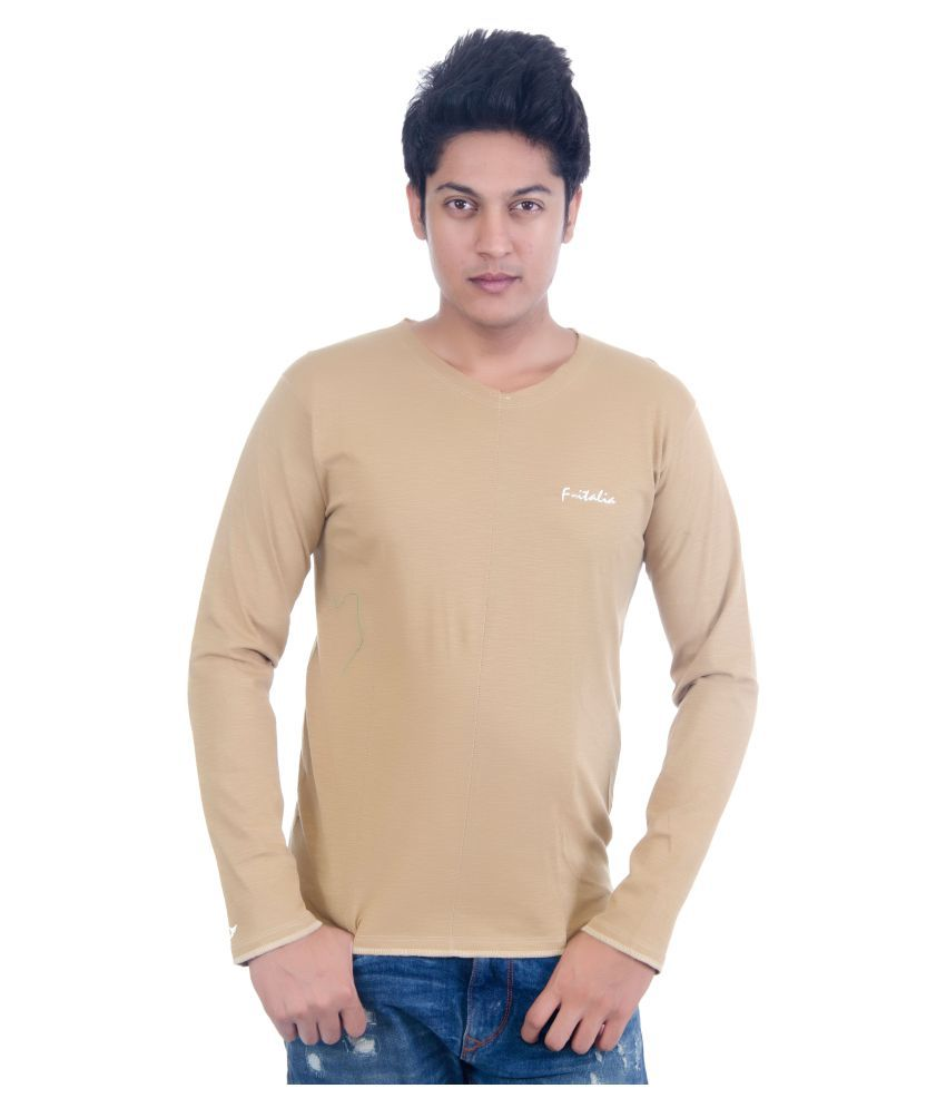 Grey Booze Khaki Henley T-Shirt