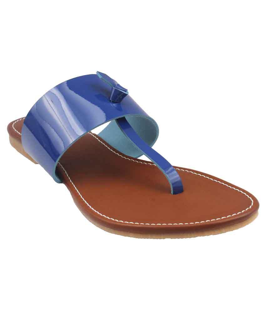 Foot Wagon Blue Flats
