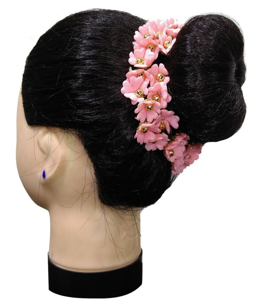 Hair accessories online snapdeal -  Majik Hair Juda Flowers Accessories For Bridal Women Pink