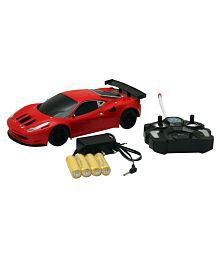 High-Powered Radio Control Car 1:18 Model Rechargeable 4CH Speed Car.