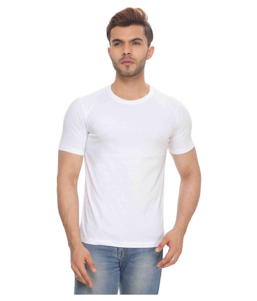 The Hex White Round T-Shirt