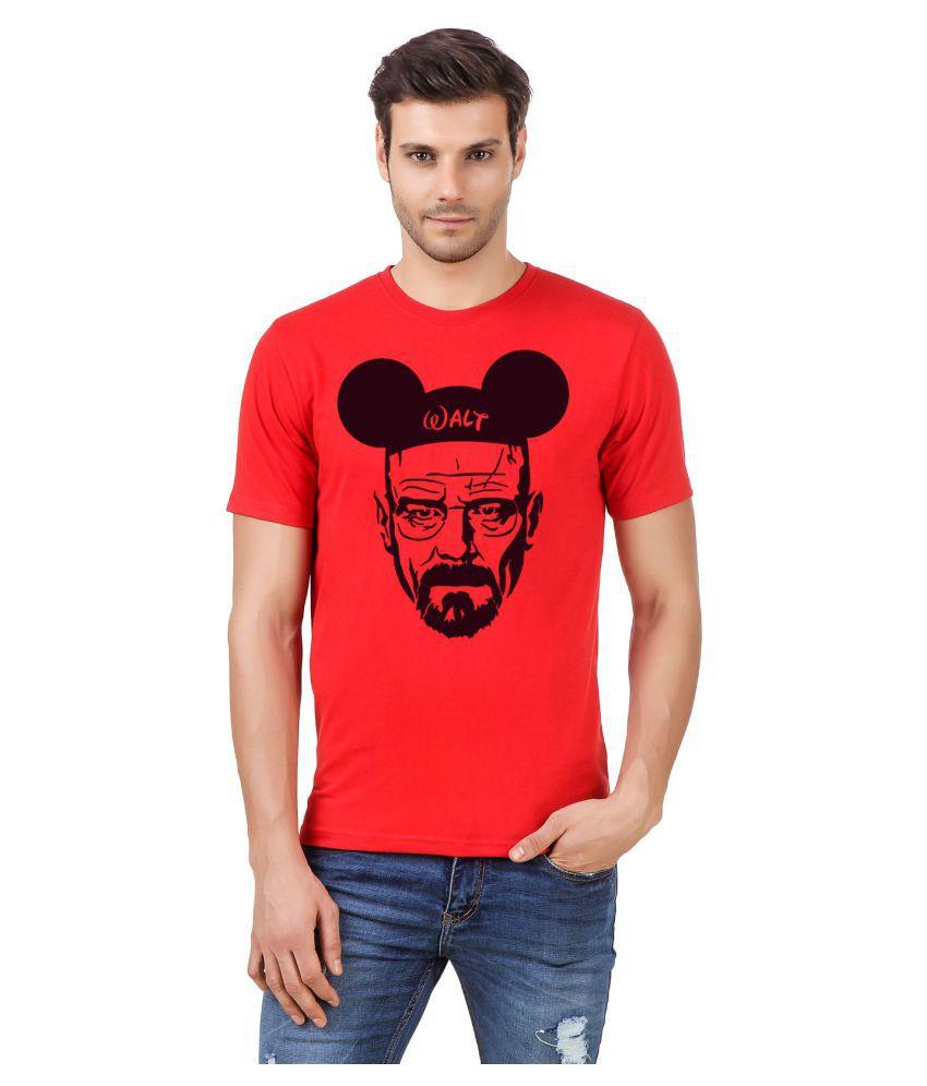 Desi Swag Red Round T-Shirt
