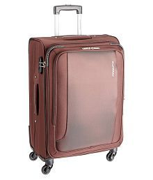 Pronto Brown M( Between 61cm-69cm) Check-in Soft SPACE + Luggage