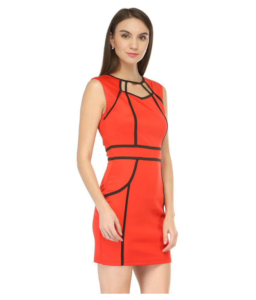 fffbdbc9a9 N-Gal Polyester Bodycon Dress - Buy N-Gal Polyester Bodycon Dress Online at Best  Prices in India on Snapdeal