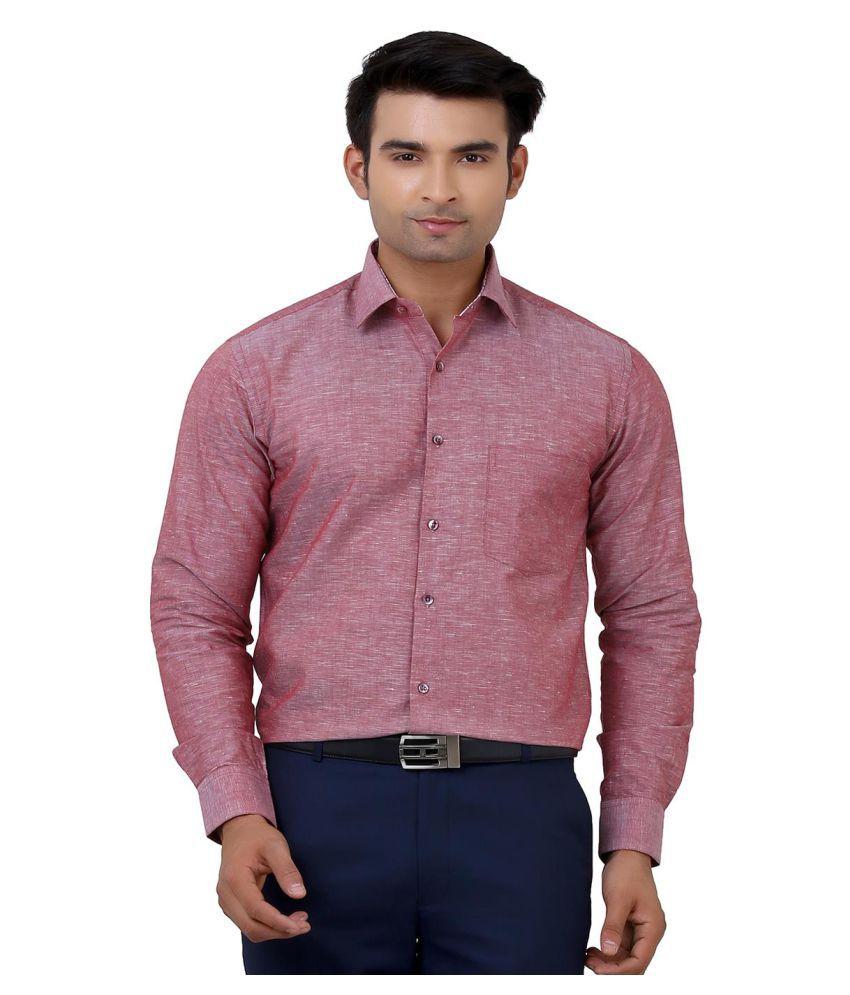 La Mode Pink Formal Regular Fit Shirt