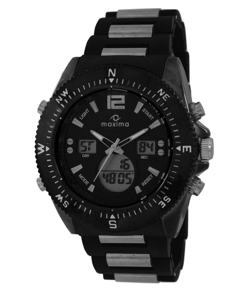 analog black amazon watch in dp digital prices india dial online s low at watches maxima buy men