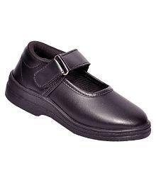Lakhani Black Velcro School Shoes