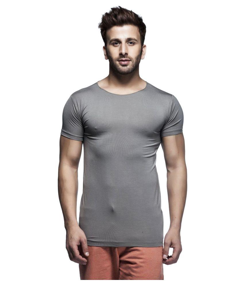Makastta Grey Round T-Shirt
