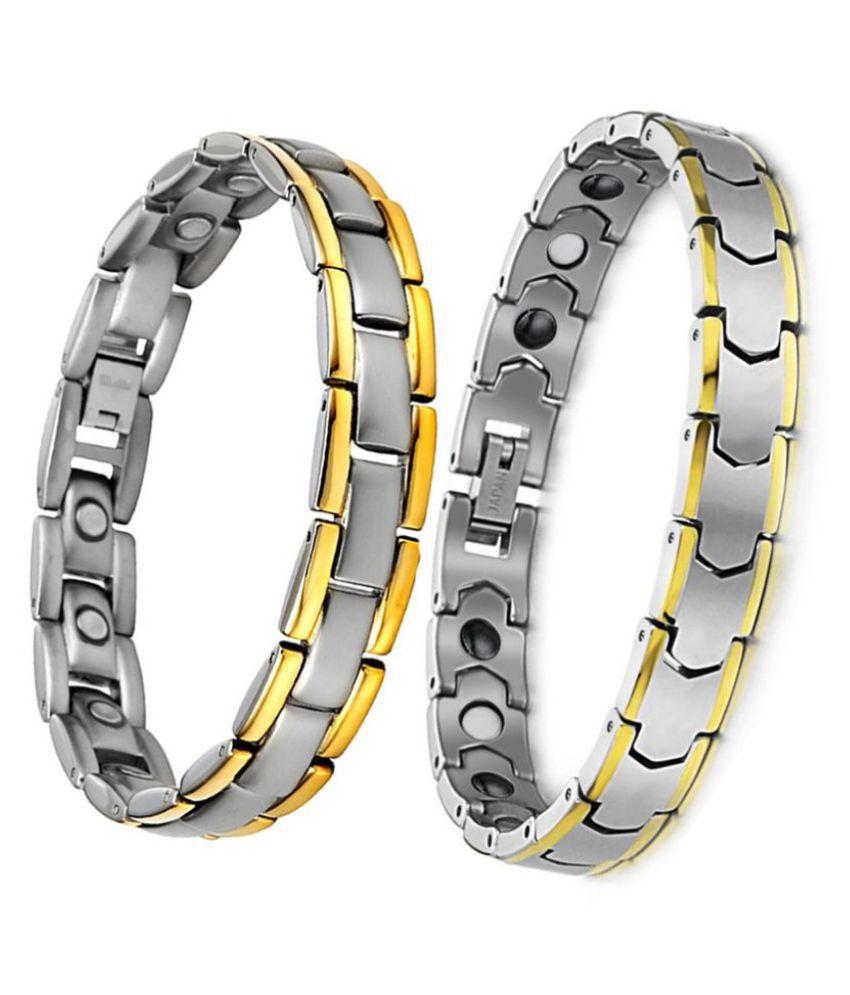 Savicent Set of 2 Titanium Bracelet Combo