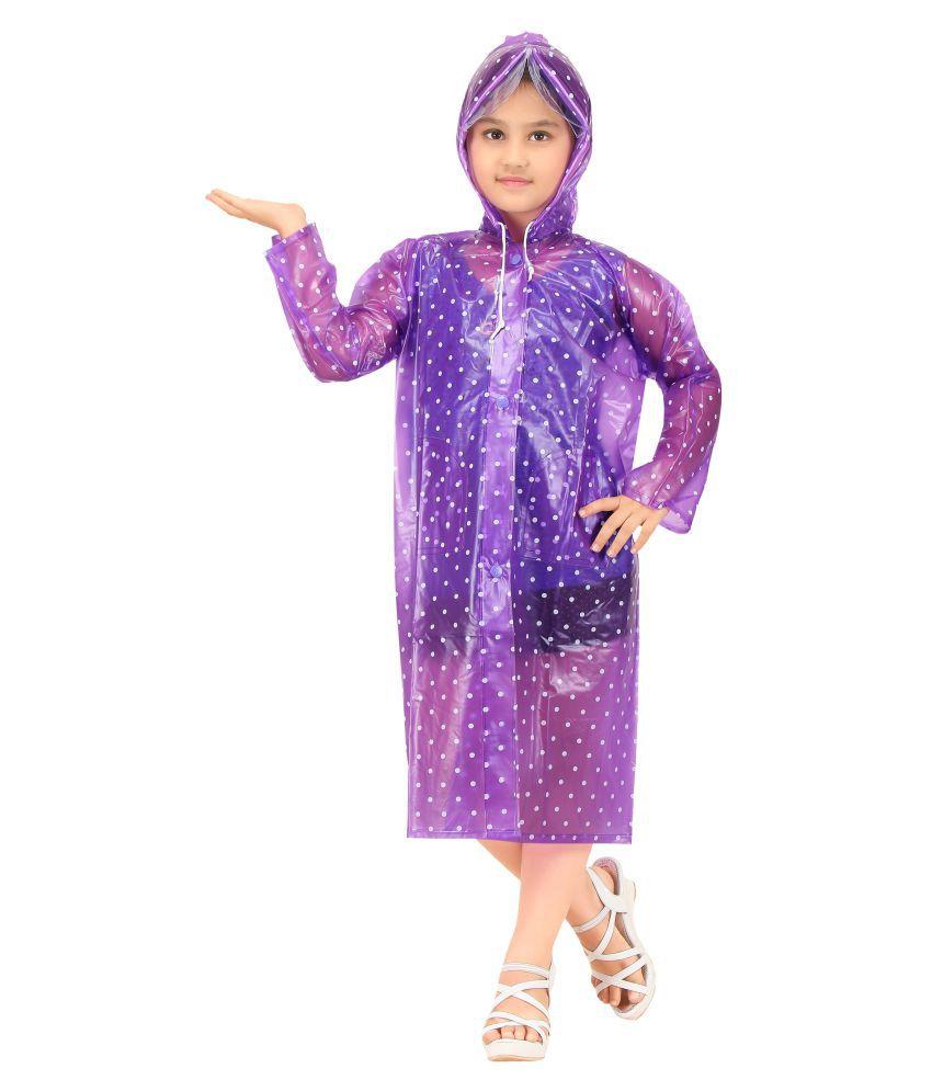 Goodluck Girls Dotted Pattern Raincoat Full Sleeve