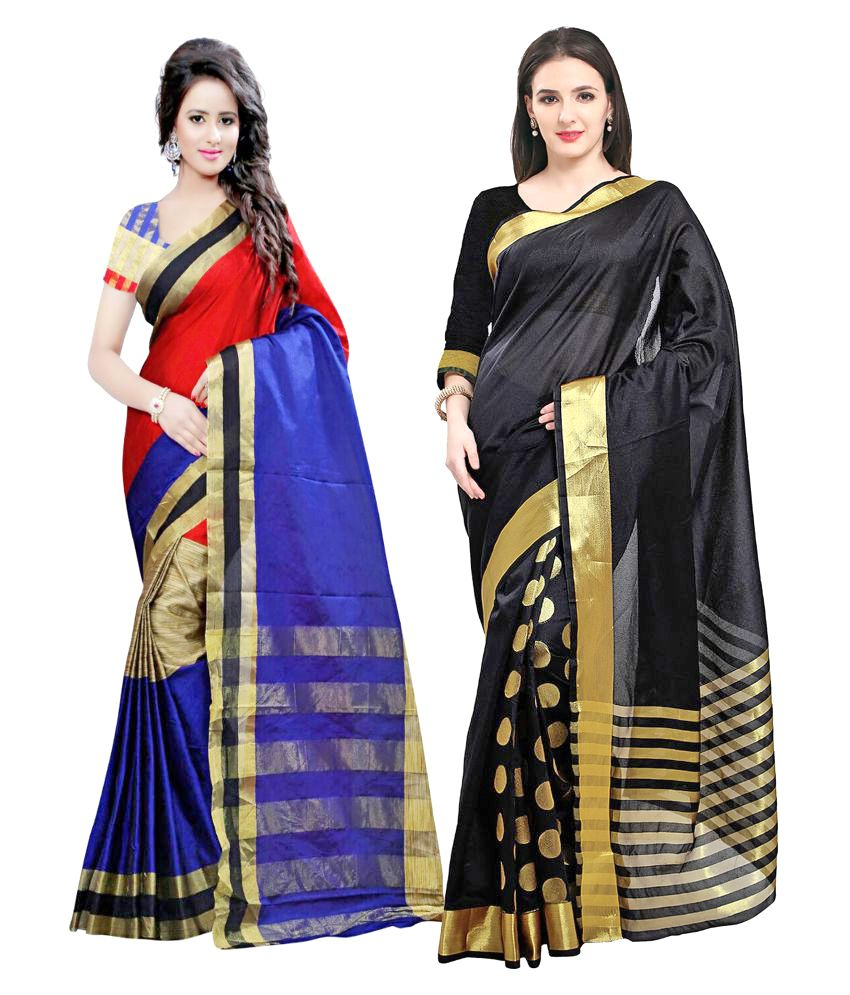 d052bf23da 7 Brothers Multicoloured Rayon Saree Combos - Buy 7 Brothers Multicoloured  Rayon Saree Combos Online at Best Prices in India on Snapdeal