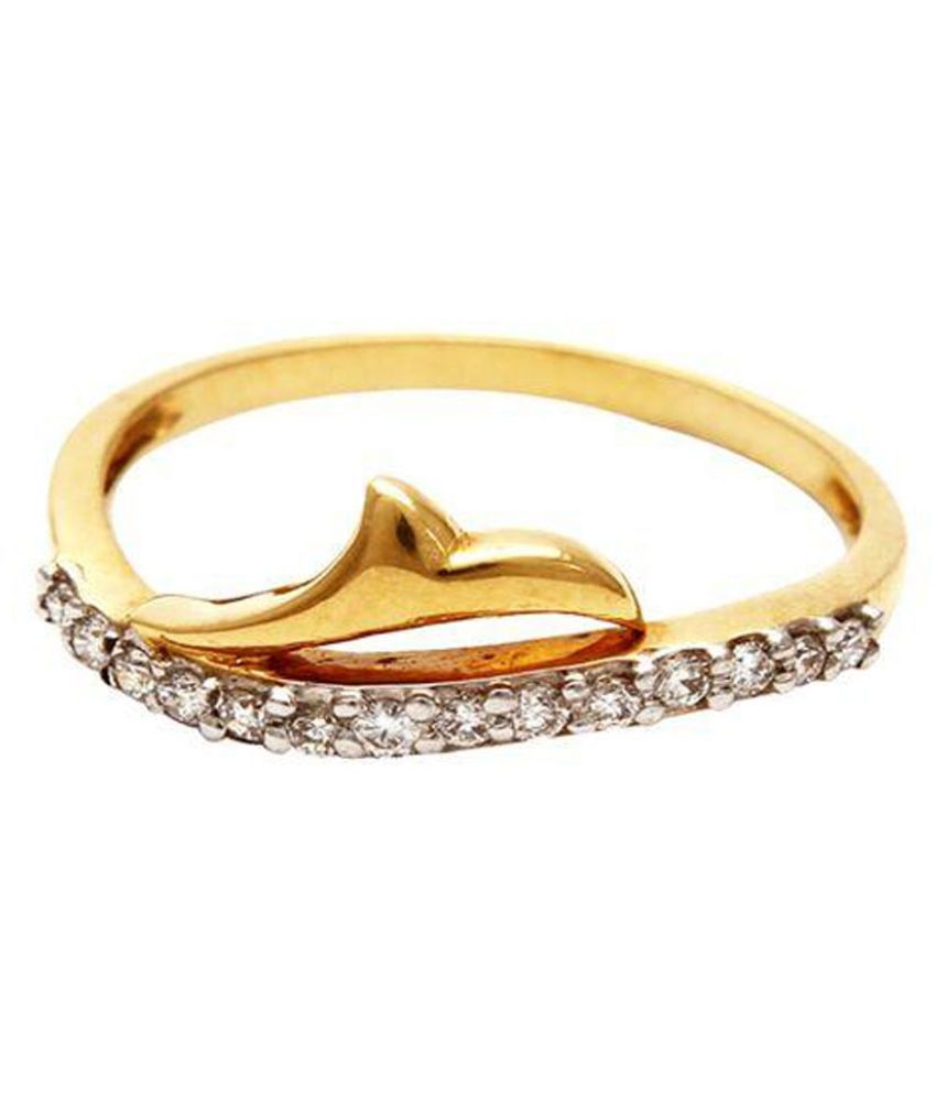 Sea Jewels 18k Gold Swarovski Ring