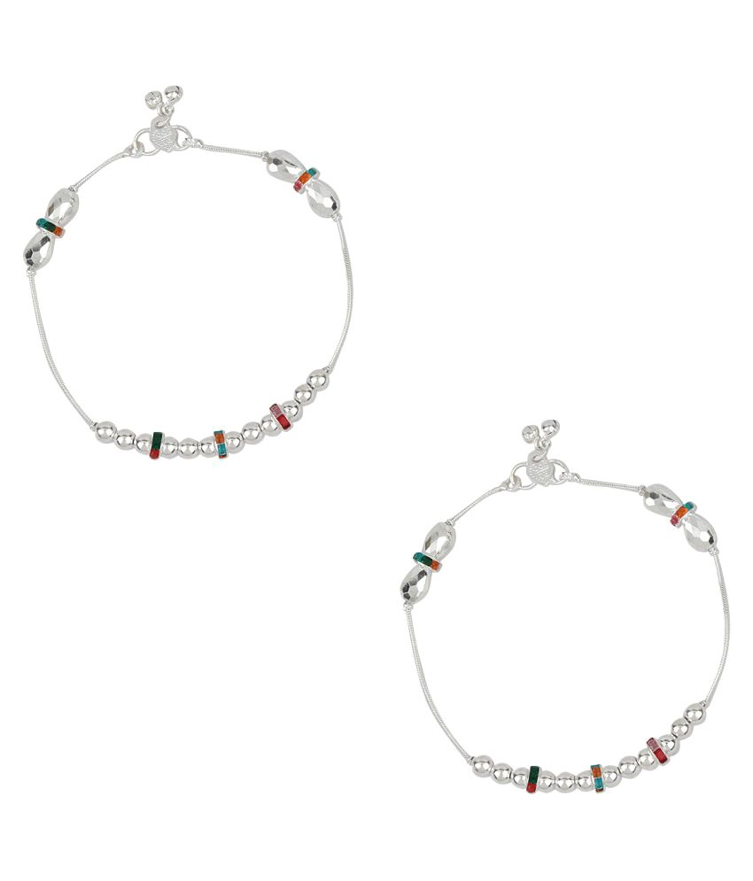 Jewel99 Mystic German Silver Anklets