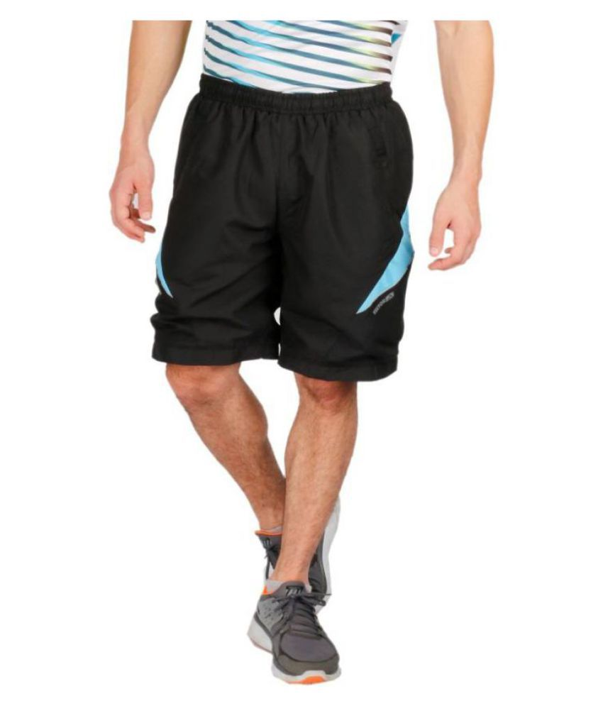 Vector X Black Polyester Shorts