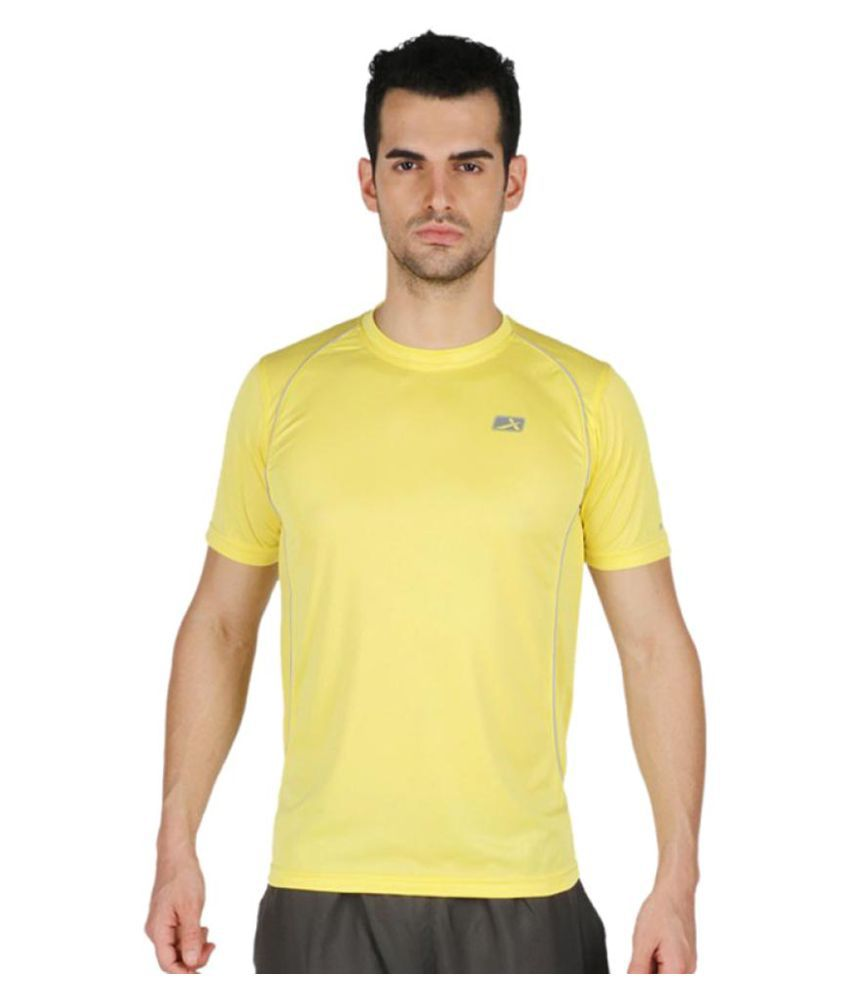 Vector X Yellow Polyster T-Shirt