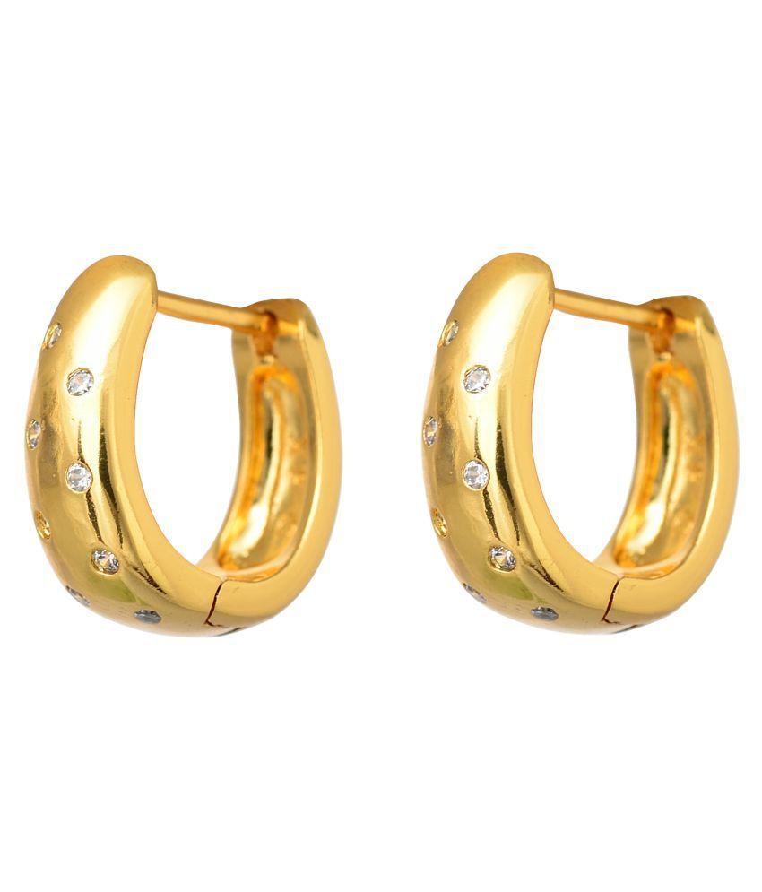 Bebold Piercing Gold Salman Style Stone Fashion Bali Studs Earring
