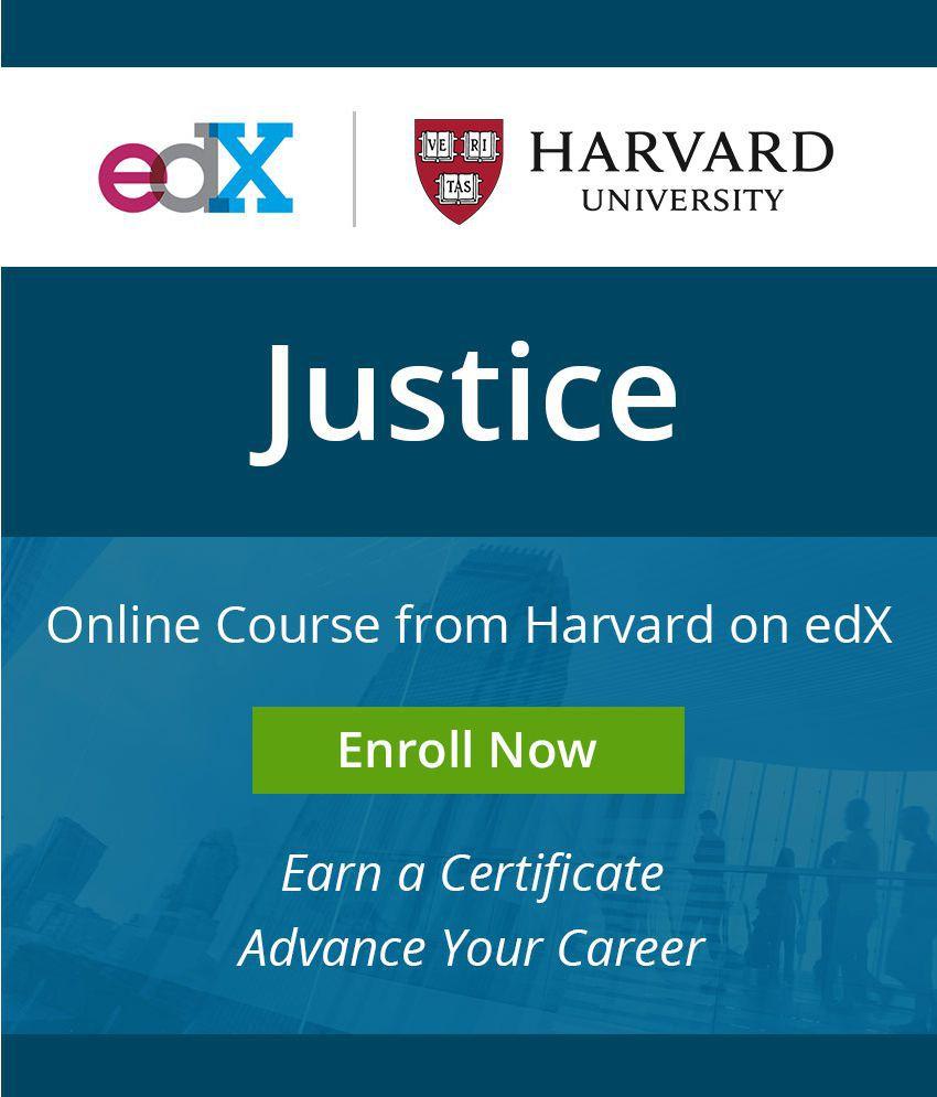 Certificate Course By Harvard On Edx Justice Mooc Buy Certificate