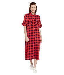 The Silhouette Store Rayon Shirt Dress