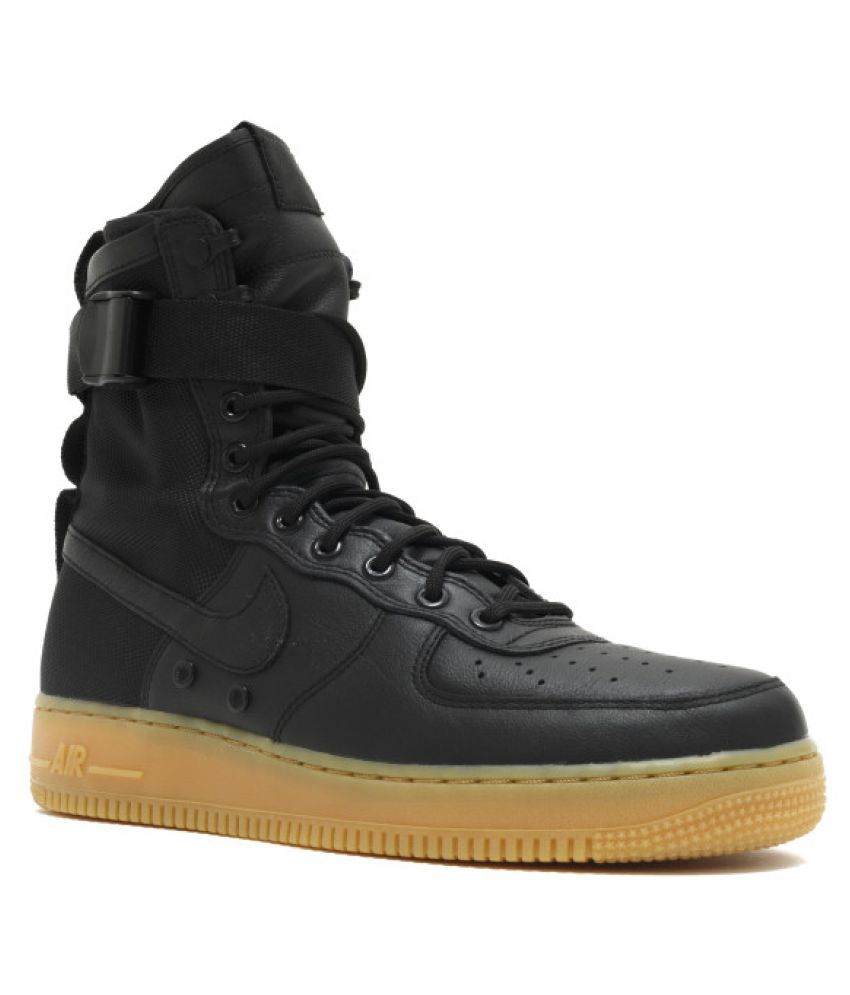 more photos 9d959 802cd ... Nike Air Force One High Lifestyle Black Casual Shoes ...