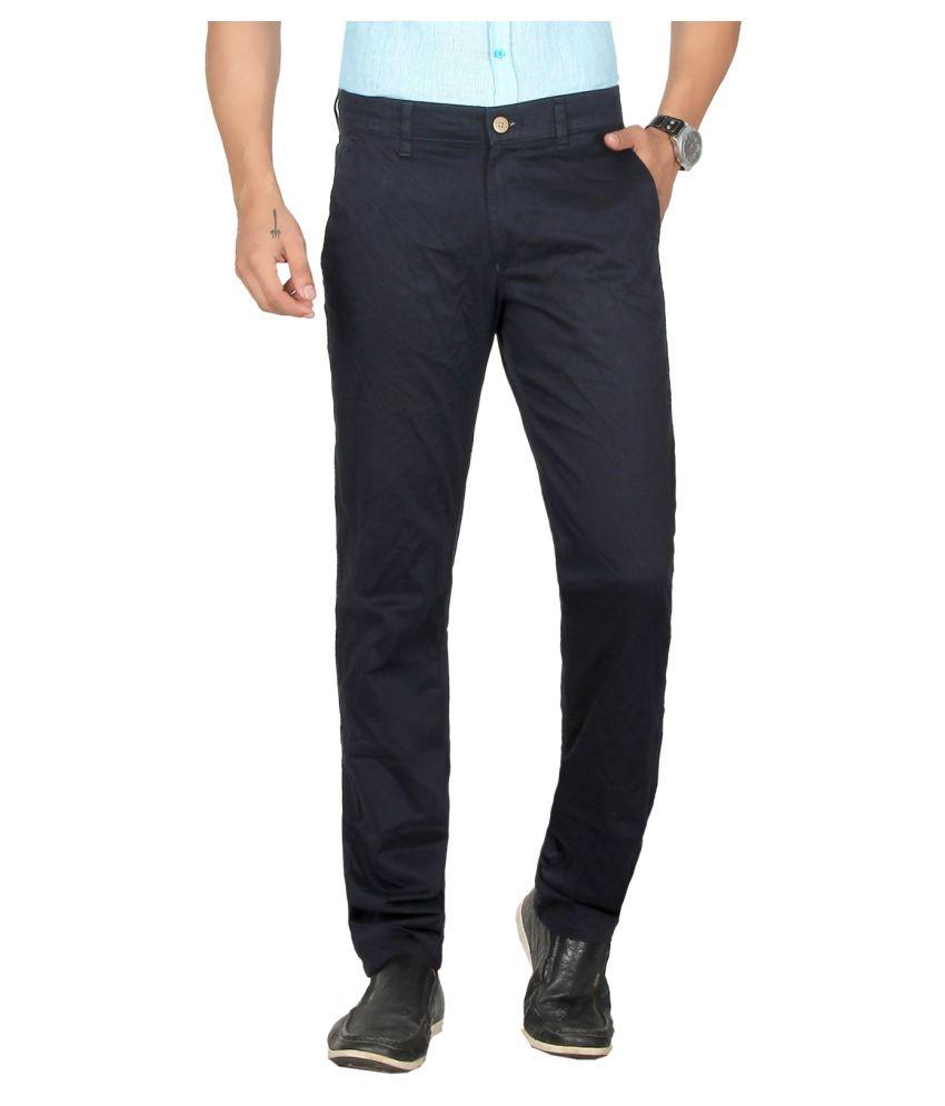 Dare Black Regular -Fit Flat Trousers