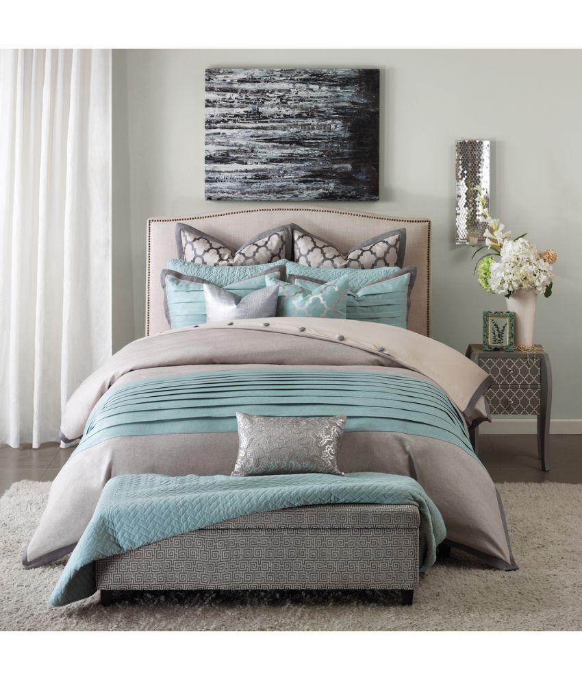 contemporary sheet sets - bella king cotton blue contemporary bed sheet set of buy bella