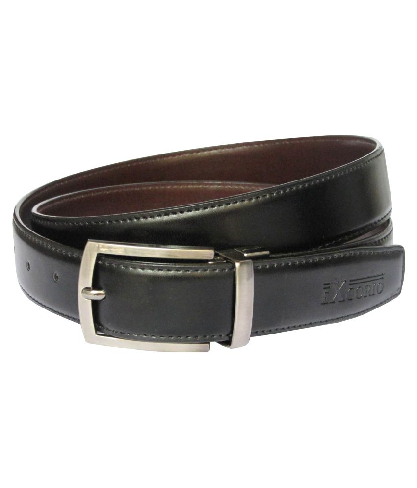 Excorio Black PU Formal Belts