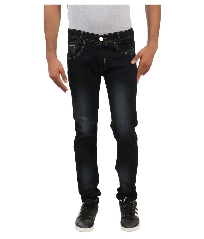 Remake Black Regular Fit Jeans