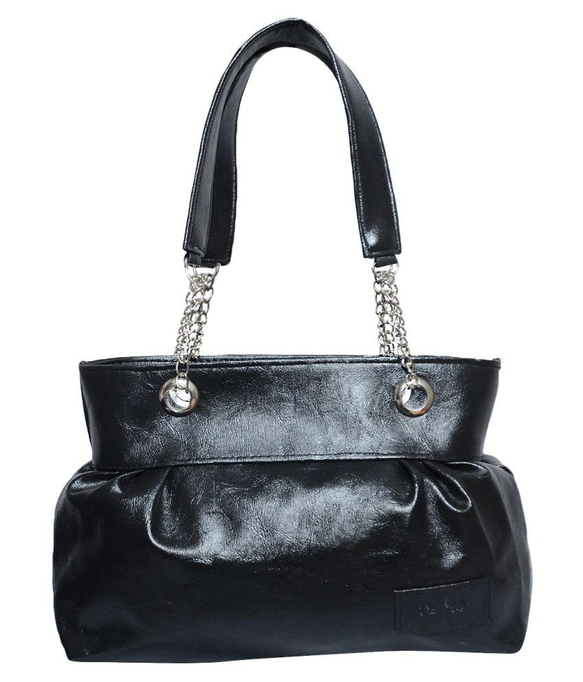 Jayteen Black P.U. Shoulder Bag