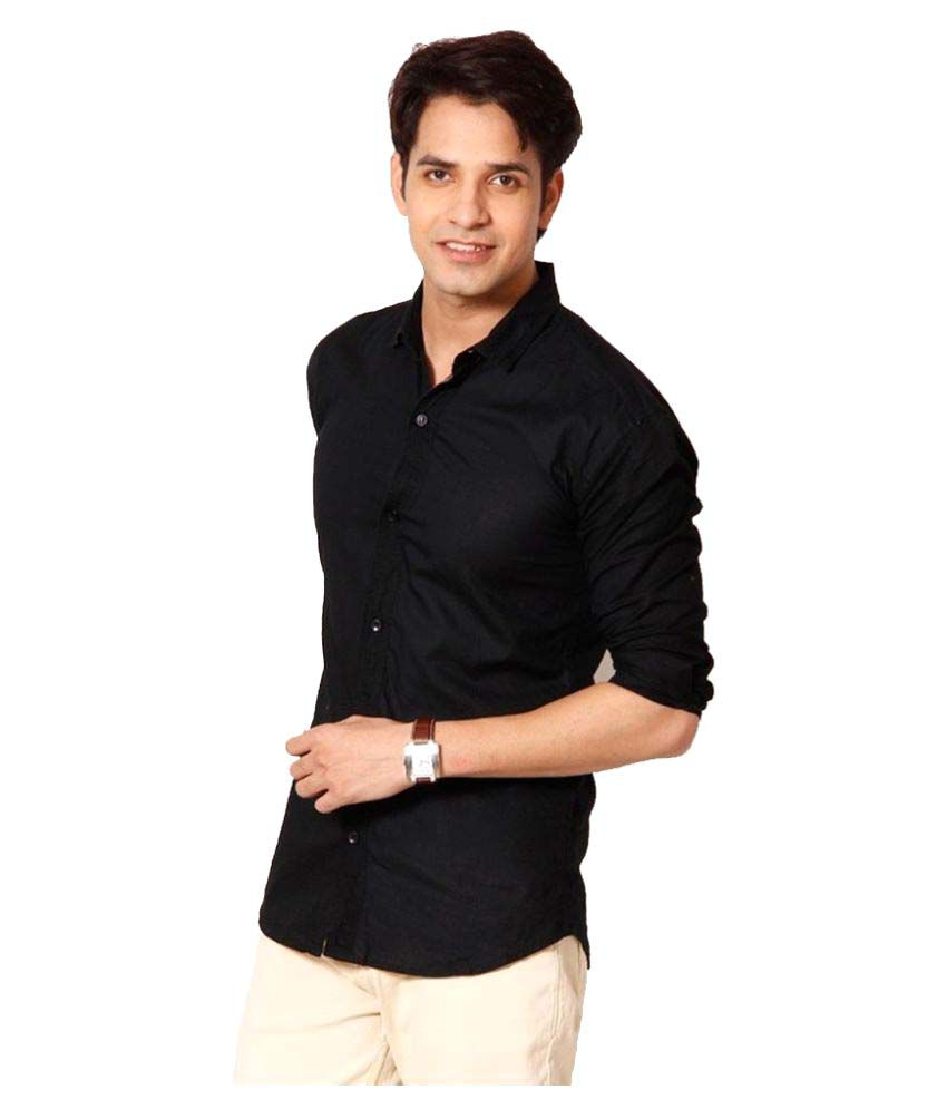 6b6b52e17fa Tarkshyam Trendz Black Casual Slim Fit Shirt - Buy Tarkshyam Trendz Black  Casual Slim Fit Shirt Online at Best Prices in India on Snapdeal