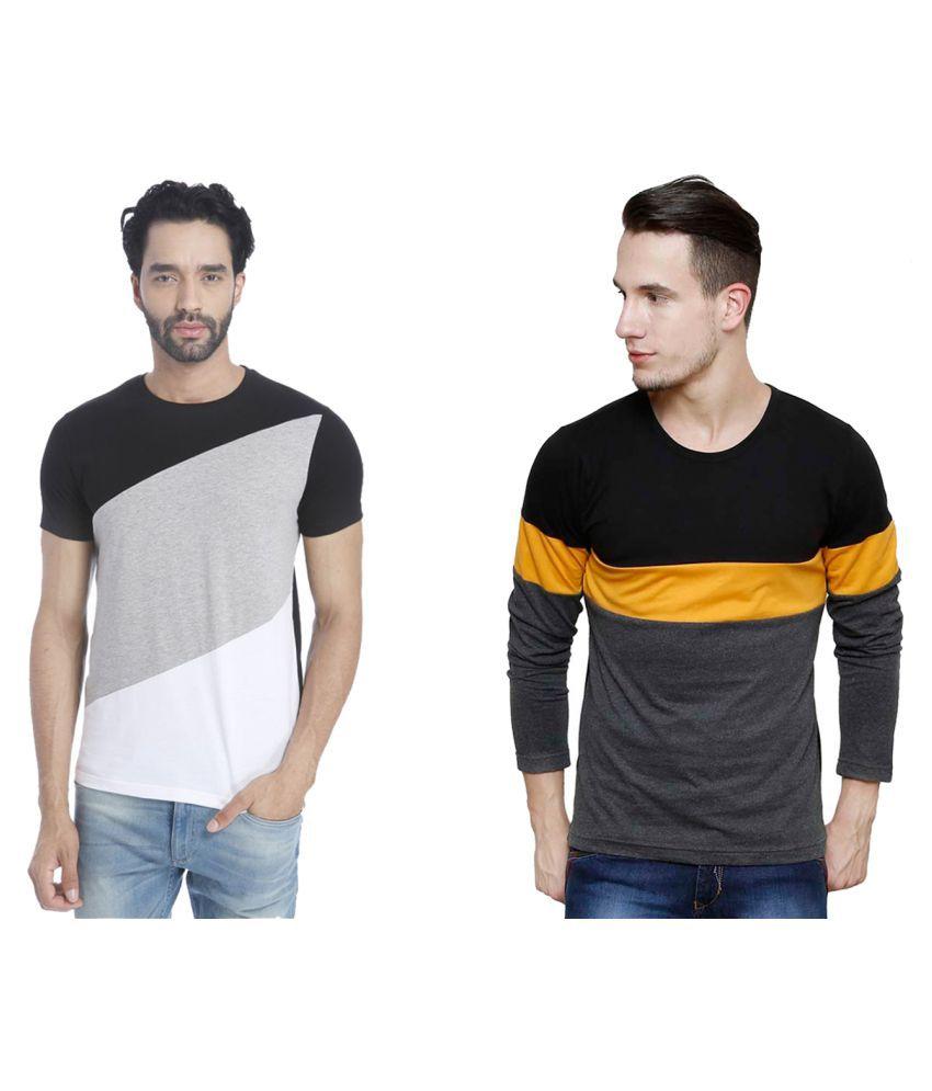 Blue Ocean Multi Round T-Shirt Pack of 2