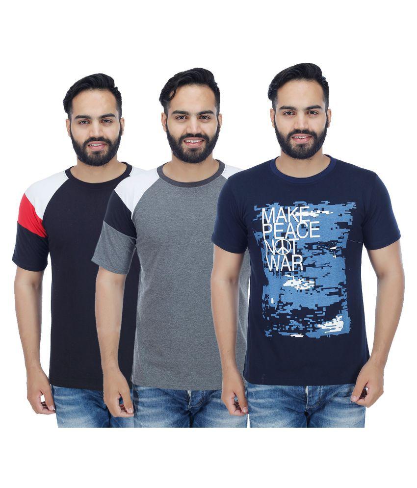 Christy World Multi Round T-Shirt Pack of 3
