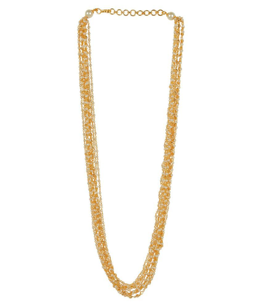 Much More 18K Golden Polished Made Stunning Necklace Set for Womens Jewelry