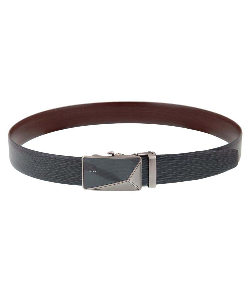 Canfly Black Leather Casual Belts