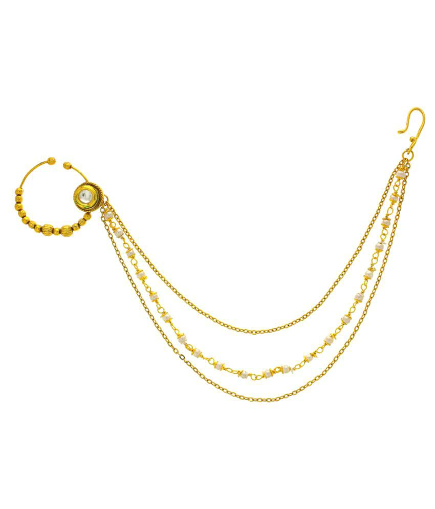 Anuradha Art Golden Finish Simple Stylish Designer Traditional ...