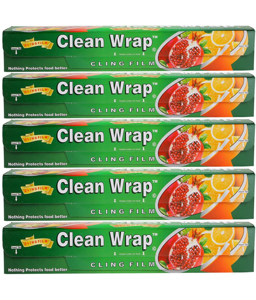 Clean Wrap Cling Film Plastic Wrap Pack of 5 (30*5=150 mtrs)