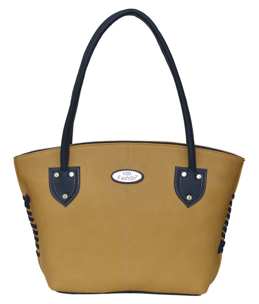 FD Fashion Beige P.U. Shoulder Bag