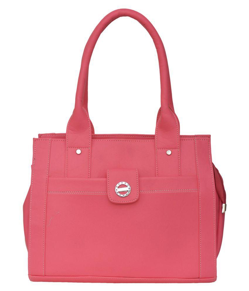 FD Fashion Pink P.U. Shoulder Bag