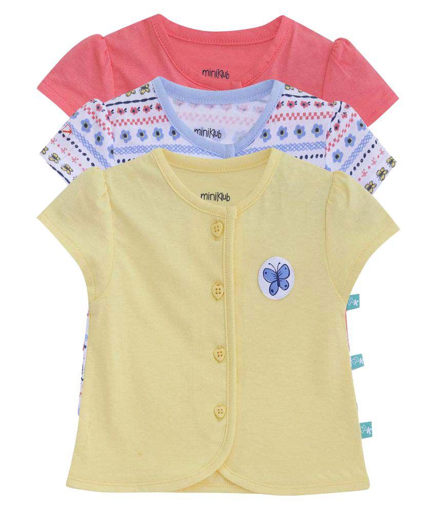 FS MiniKlub Girl's Po3 Vest-Yellow Combo