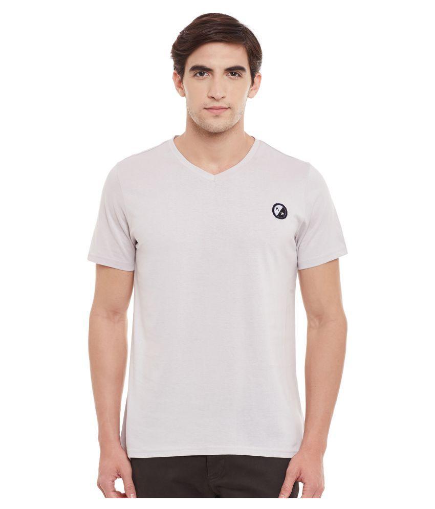 Atorse Grey V-Neck T-Shirt