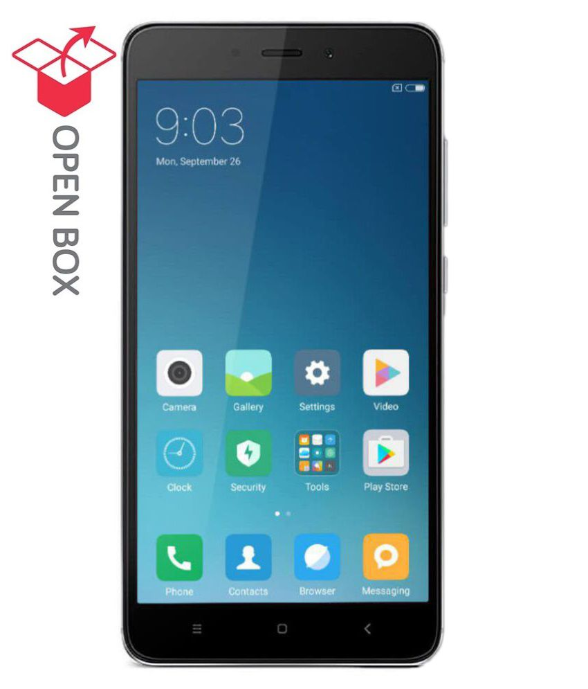 OPEN BOX Redmi Note 4 32  GB Dark Grey 3   GB RAM  6 Months Brand Warranty  available at SnapDeal for Rs.12299