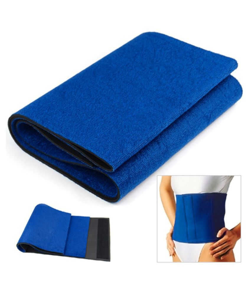 Sahani Traders Unisex hot shaper Sweat Belt Freesize Sweat Slim Belt Blue.